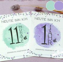 Meilensteinkarten fürs erste Babyjahr