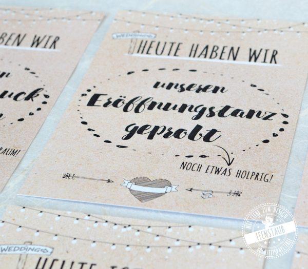 Meilensteinkarten für die Hochzeit