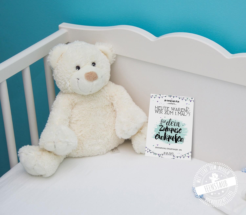 Meilensteinkarten für die Schwangerschaft und das Baby