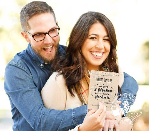 Meilensteinkarten für die Hochzeitsvorbereitung
