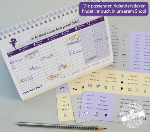 Kalendersticker für Tischkalender