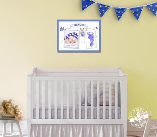 Bild für Babyfoto und Fußabdruck