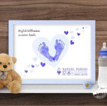 Geburtsprint mit Fußabdruck