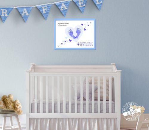 Bild für Babyzimmer zur Geburt