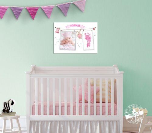Babyprint mit Foto und Fußabdruck
