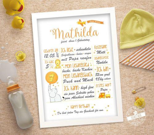 Erinnerungsprint fürs erste Babyjahr
