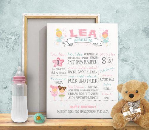 Erinnerungen ans erste Babyjahr als Print