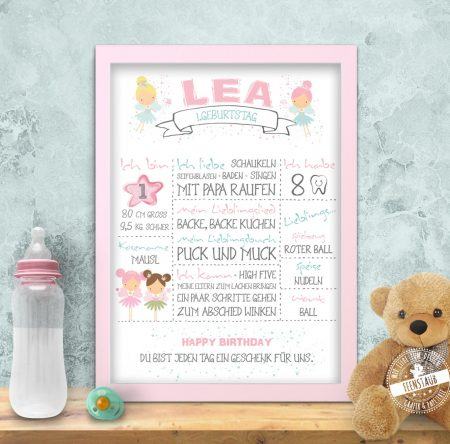 Babyprint mit Feen