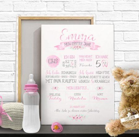 Geburtstagsprint für Baby