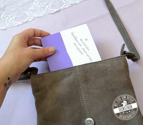 Meilensteinkarte in hübscher und robuster Kuverttasche