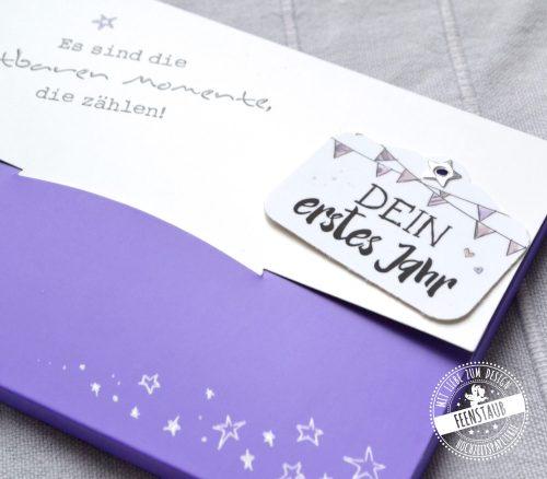Meilensteinkarte als Set in hübscher Tasche