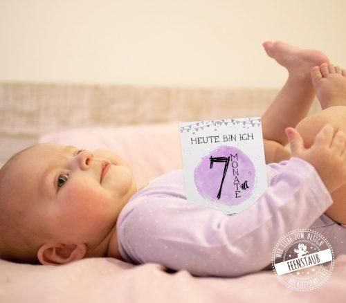 Meilensteinkarte 7 Monate