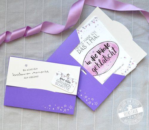 Baby Milestonekarten in hübscher Tasche