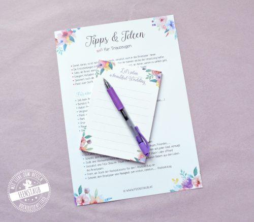 Tipps und Ideen für Trauzeugen für die Hilfe bei der Planung der Hochzeit