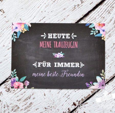 Dankeskarte für die Trauzeugin, beste Freundin zur Hochzeit