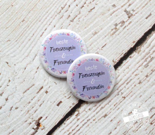 Button für Trauzeugen