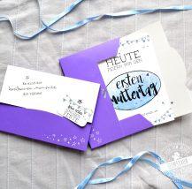 Meilensteinkarten für Babys erste Feste