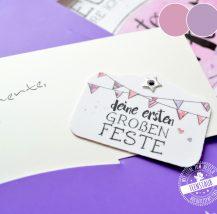 Meilensteinkarten für Mädchen
