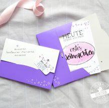 Meilensteinkarten in rosa für Mädchen