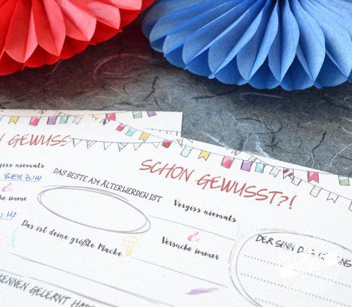 Fragen an die Gäste bei Geburtstagsfest