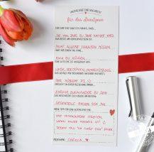 Gästebuchkarten für die Hochzeit