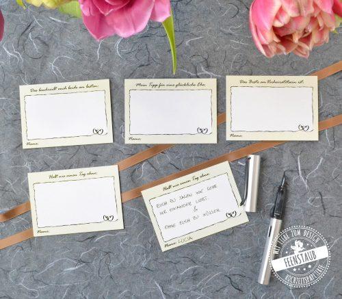 Gästebuchkarten Set