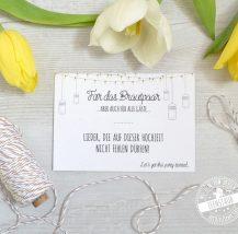 Dj Karte für die Hochzeit