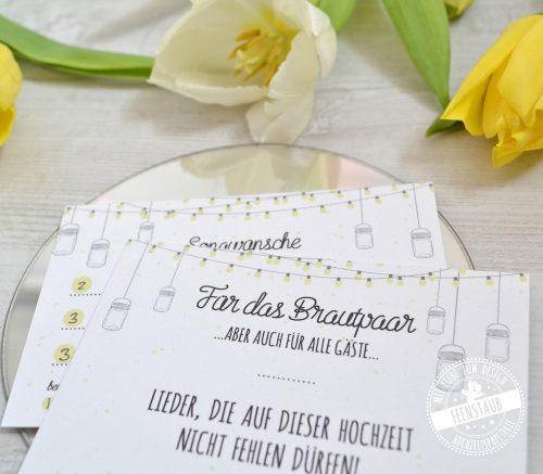 Musikwunschkarten für Hochzeitsgäste