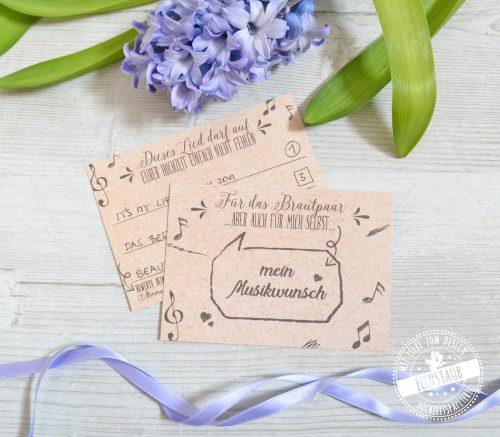 Dj Karten für die Hochzeit
