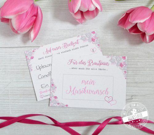 Musikwünsche auf einer Hochzeit notieren