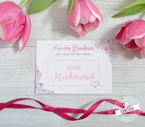 DJ Karten für Musikwünsche der Hochzeitsgäste