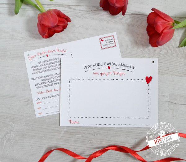 Karten mit guten Wünschen an das Brautpaar