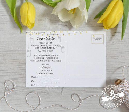 Ballonflugkarten für die Hochzeit