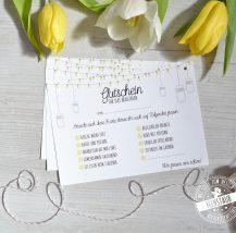 Luftballone zur Hochzeit steigen lassen mit hübschen Karten