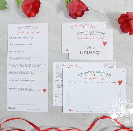 Hochzeitsset mit Herz