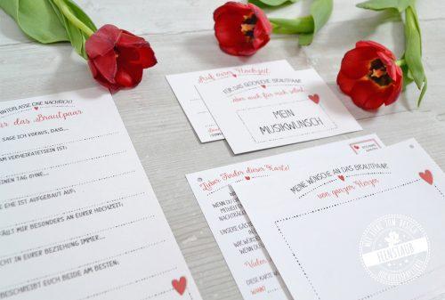 Gästekarten, Ballonkarten, DJ Karten