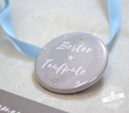 """Button """"Bester Taufpate"""""""