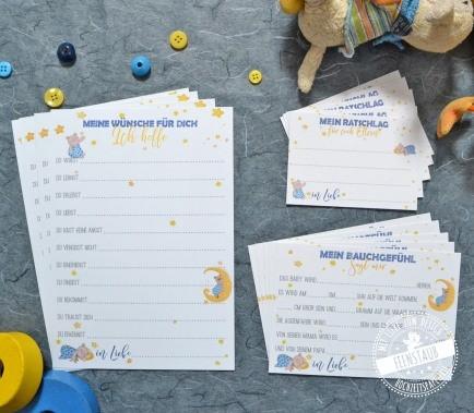 Babyshower Karten Set