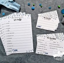 Spiel Karten für Babyshower