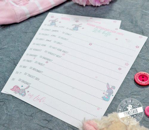 Gästebuch Karten für Babyshower