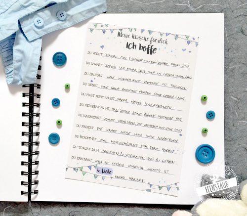 Gästebuch für den ersten Geburtstag