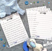 Gästebuch zum Ausfüllen auf Taufe