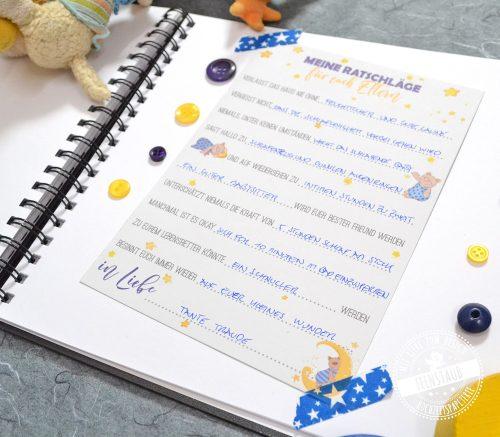 gästebuchidee für Babyshower