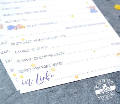 Taufgästebuch Karten zum Ausfüllen