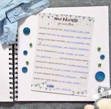 Idee für Gästebuch zur Taufe