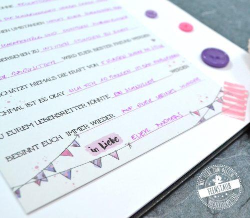 Rosa Karten für Babyparte zur Geburt