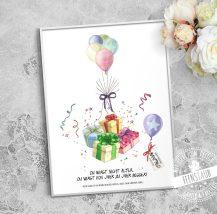 Erinnerung Geschenk für Geburtstag, Fingerabdrücke