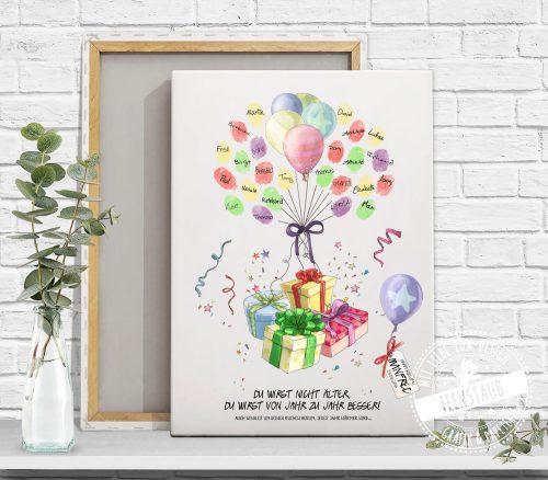 Geburtstag Fingerabdruckbild