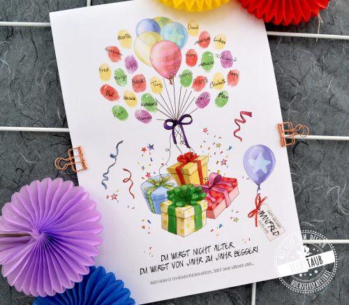 Gästebuch Idee für Geburtstag