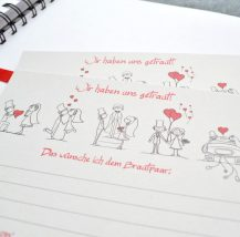 Gästebuch Karten für Hochzeit